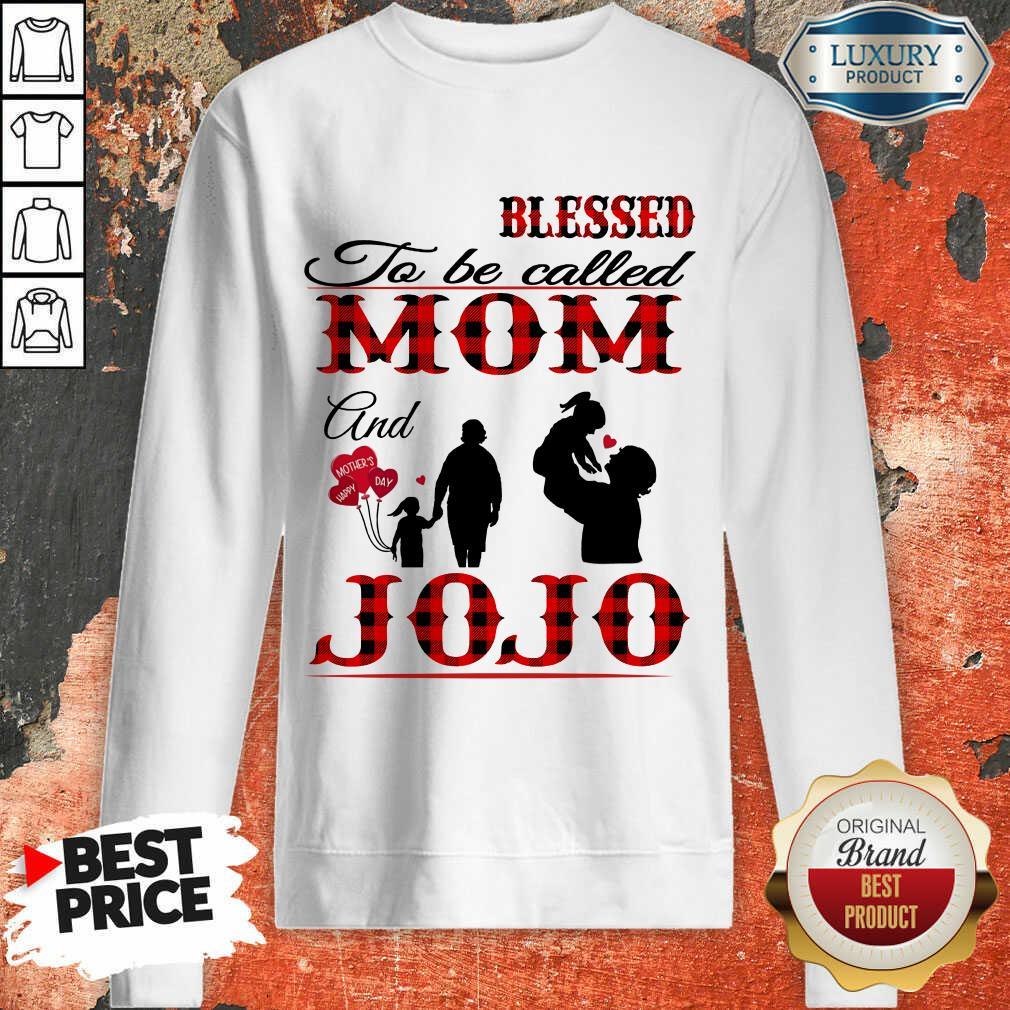 Red Blessed To Be Called Mom And Jojo Sweatshirt