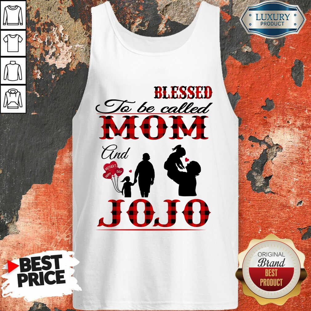 Red Blessed To Be Called Mom And Jojo Tank Top