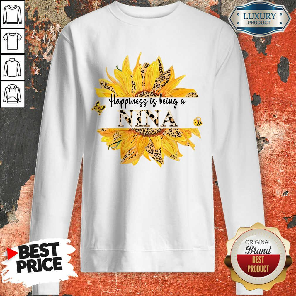 SunFlower Leopard Happiness Is Being A Nina Sweatshirt