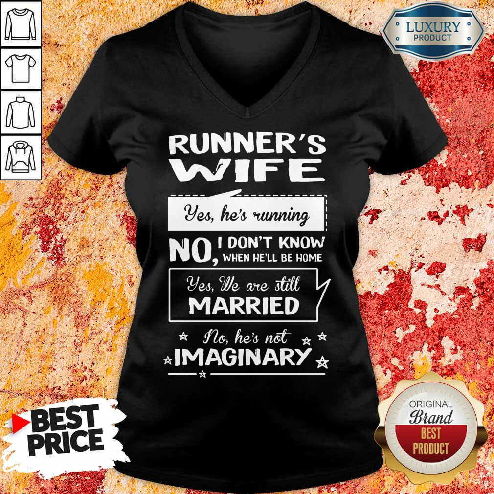 Runners Wife Married Imaginary V-neck