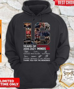 16 Years Of Criminal Minds 2005 2021 Thank You For The Memories Hoodie