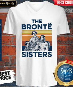 Awesome Book The Bronte Sister Vintage V-neck