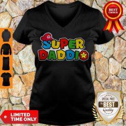 Awesome Daddy Super Mario Super Daddio V-neck