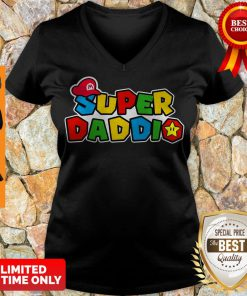 Awesome Daddy Super Mario Super Daddio V-neck