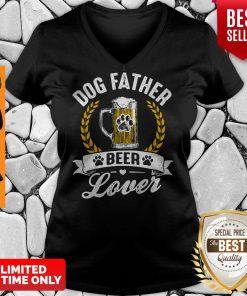Awesome Dog Father Beer Lover V-neck