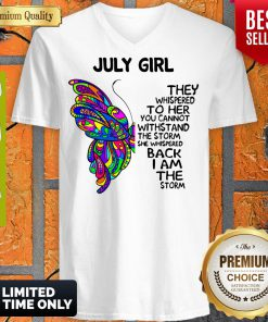 Awesome July Girl V-neck