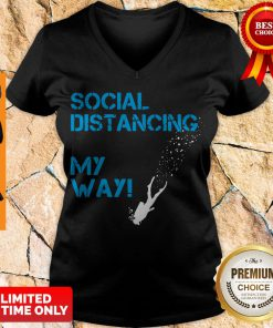 Awesome Social Distancing My Way V-neck