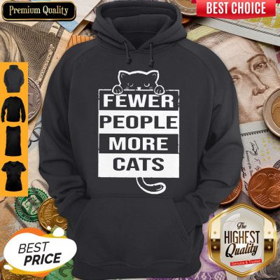 Pro Fewer People More Cats Hoodie