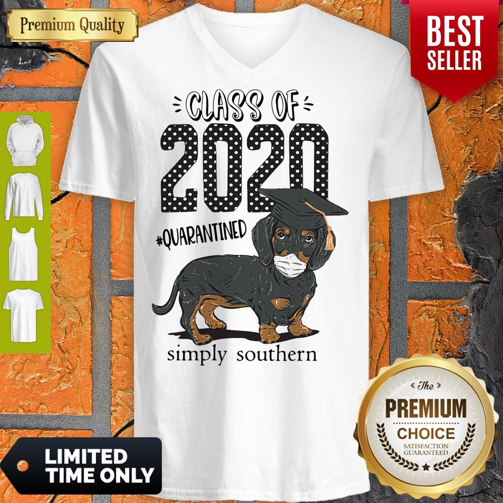 Class Of 2020 #quarantined Simply Southern Dachshund Best V-neck