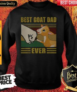 Funny Beat Goat Dad Ever Vintage Father's Day Sweatshirt