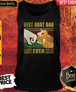 Funny Beat Goat Dad Ever Vintage Father's Day Tank Top
