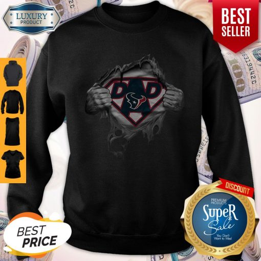 Funny Blood Inside Me Dad Houston Texans NFL Logo Sweatshirt