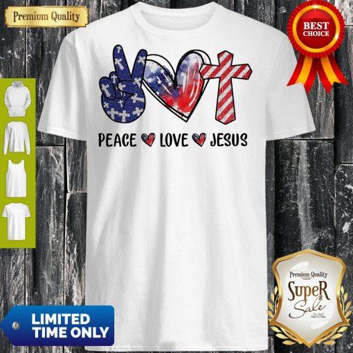 Funny Peace Love Jesus Diamond Shirt