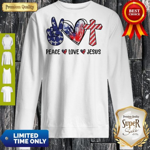Funny Peace Love Jesus Diamond Sweatshirt