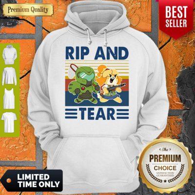 Funny Rip And Tear Vintage Hoodie