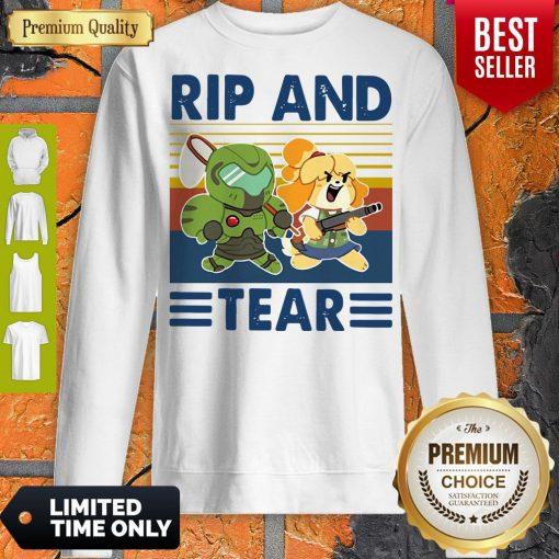 Funny Rip And Tear Vintage Sweatshirt