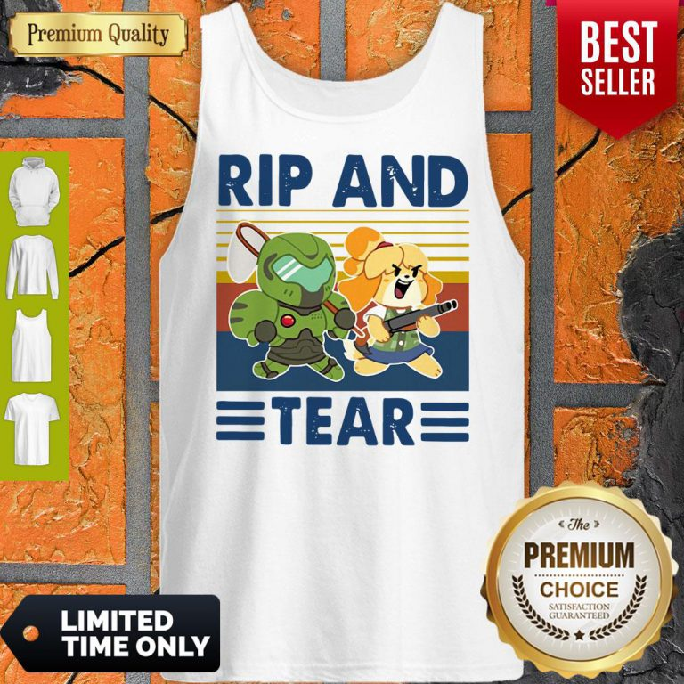Funny Rip And Tear Vintage Tank Top