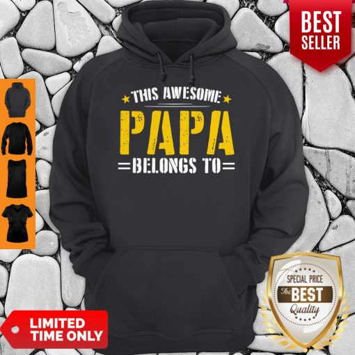Funny This Awesome Papa Belongs To Hoodie