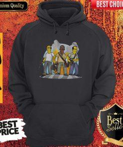 Funny Trevor Franklin And Michael GTA V Simpsonized Hoodie