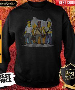 Funny Trevor Franklin And Michael GTA V Simpsonized Sweatshirt