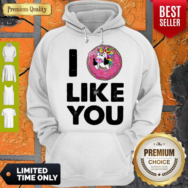 Funny Unicorn Donut I Love You Hoodie
