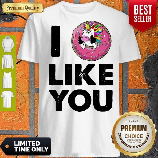 Funny Unicorn Donut I Love You Shirt