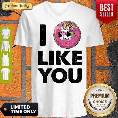 Funny Unicorn Donut I Love You V-neck