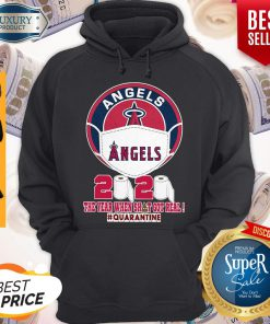 Los Angeles Angels Face Mask 2020 The Year When Shit Got Real Quarantine Hoodie