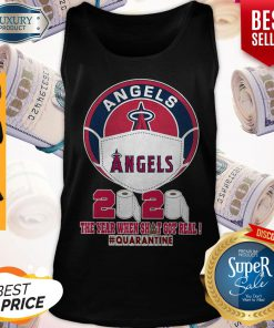 Los Angeles Angels Face Mask 2020 The Year When Shit Got Real Quarantine Tank Top