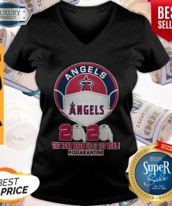 Los Angeles Angels Face Mask 2020 The Year When Shit Got Real Quarantine V-neck