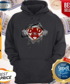 Nice Blood Inside Me Dad San Francisco 49ers Logo Hoodie