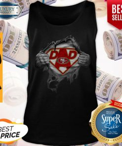 Nice Blood Inside Me Dad San Francisco 49ers Logo Tank Top