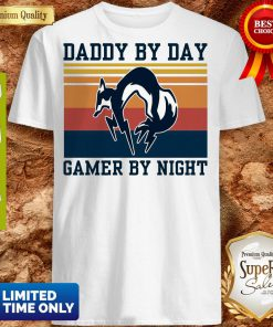 Nice Foxhound Daddy By Day Gamer By Night Vintage Shirt
