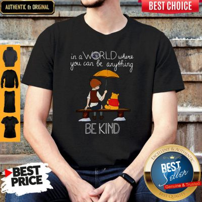 Nice In A World Where You Can Be Anything Be Kind Winnie Pooh Shirt