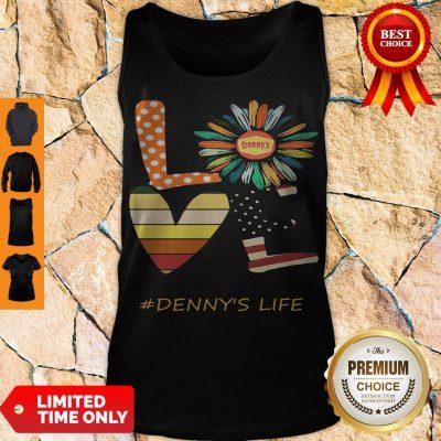 Nice Love Dennys Life Flower American Flag Vintage Tank Top