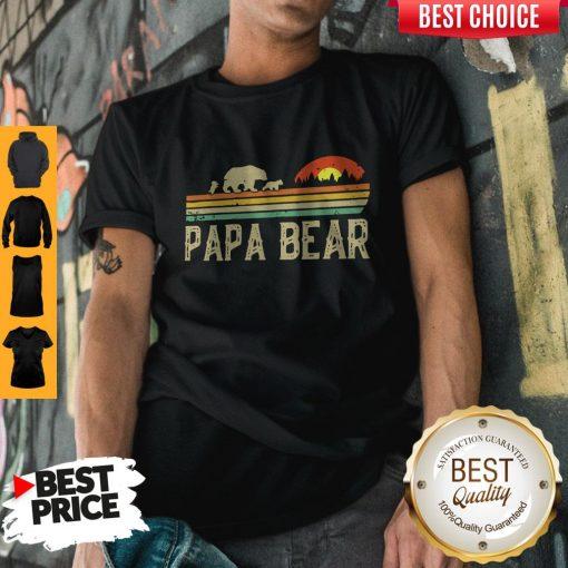 Nice Papa Bear Fathers Day Shirt