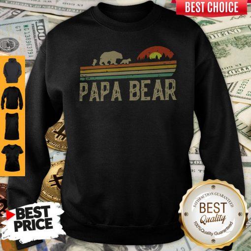 Nice Papa Bear Fathers Day Sweatshirt