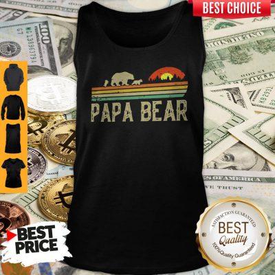 Nice Papa Bear Fathers Day Tank Top