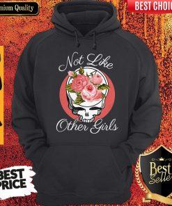 Nice Skull Not Like Other Girls Hoodie