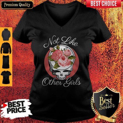 Nice Skull Not Like Other Girls V-neck