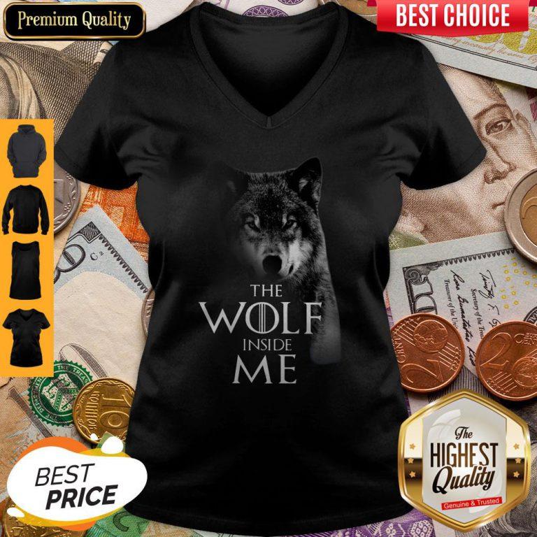 Nice The Wolf Inside Me V-neck