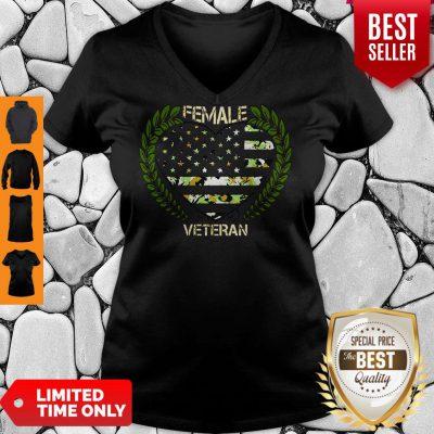 Official Female Veteran V-neck