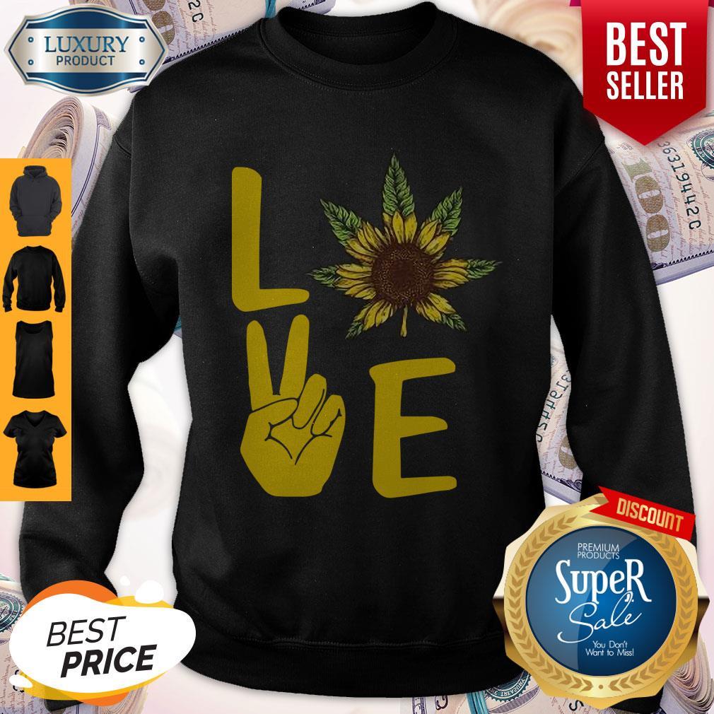 Official Love Hands Sunflower Weed Sweatshirt