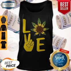 Official Love Hands Sunflower Weed Tank Top