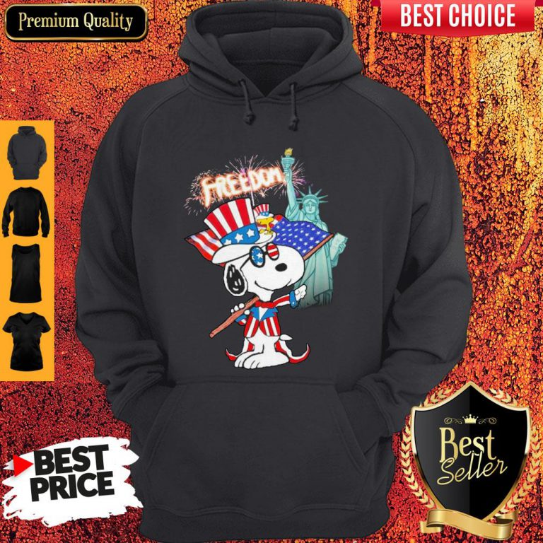 Official Snoopy Flag Day Freedom Hoodie