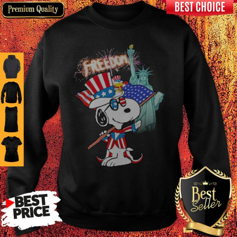 Official Snoopy Flag Day Freedom Sweatshirt