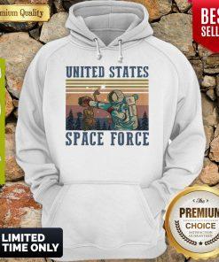 Premium Alien United States Space Force Vintage Hoodie