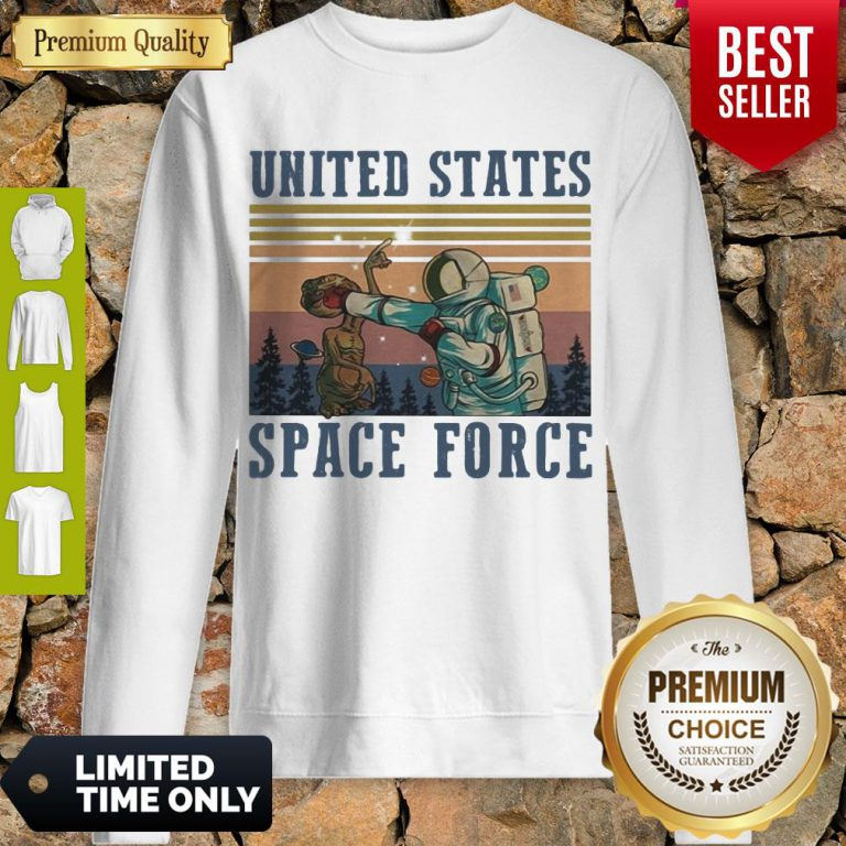 Premium Alien United States Space Force Vintage Sweatshirt