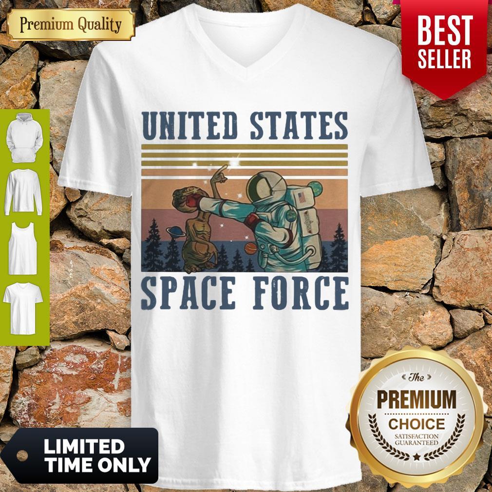 Premium Alien United States Space Force Vintage V-neck