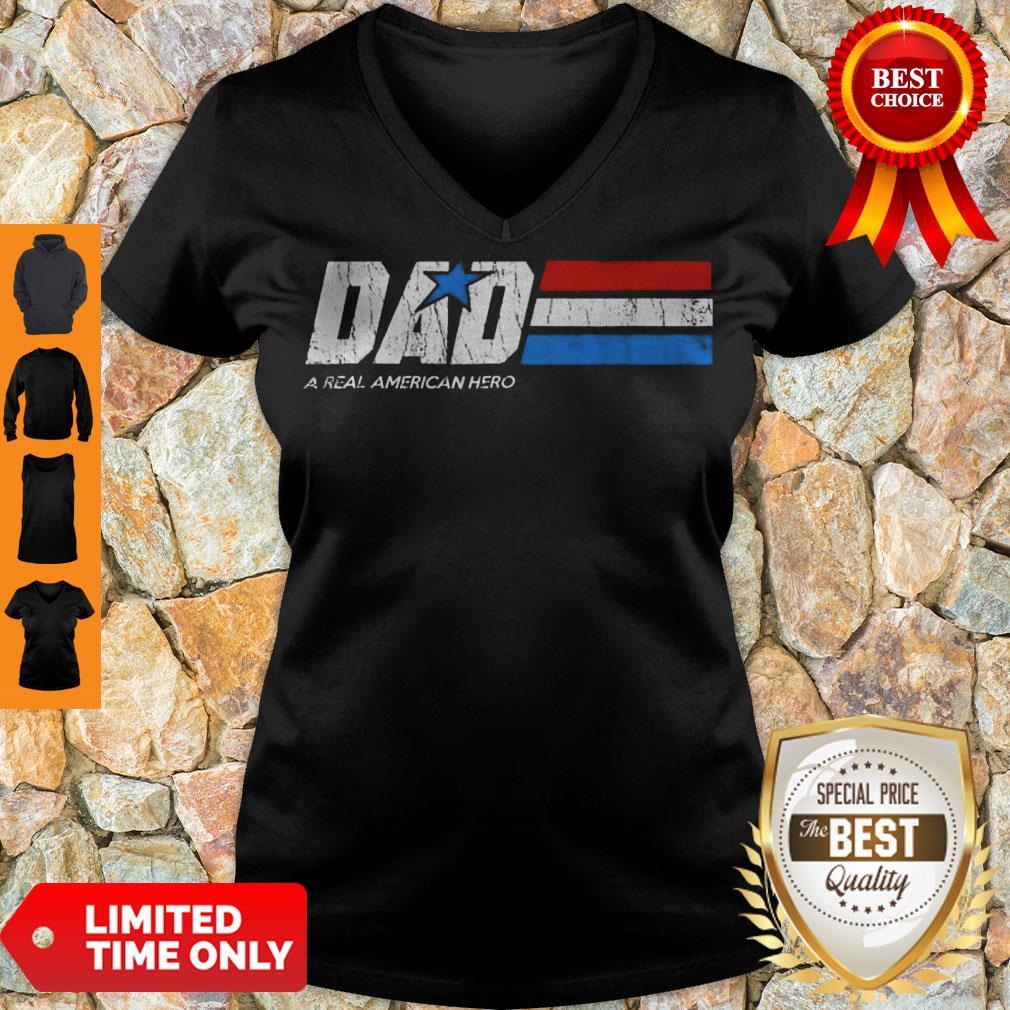 Premium Dad Real American Hero V-neck